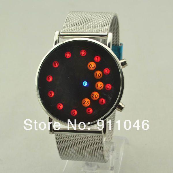 DHL Free Shipping Fashion Steel Band Led Watch Wholesale, 35pcs/lot,Nice Gift Watches, High Quality(China (Mainland))