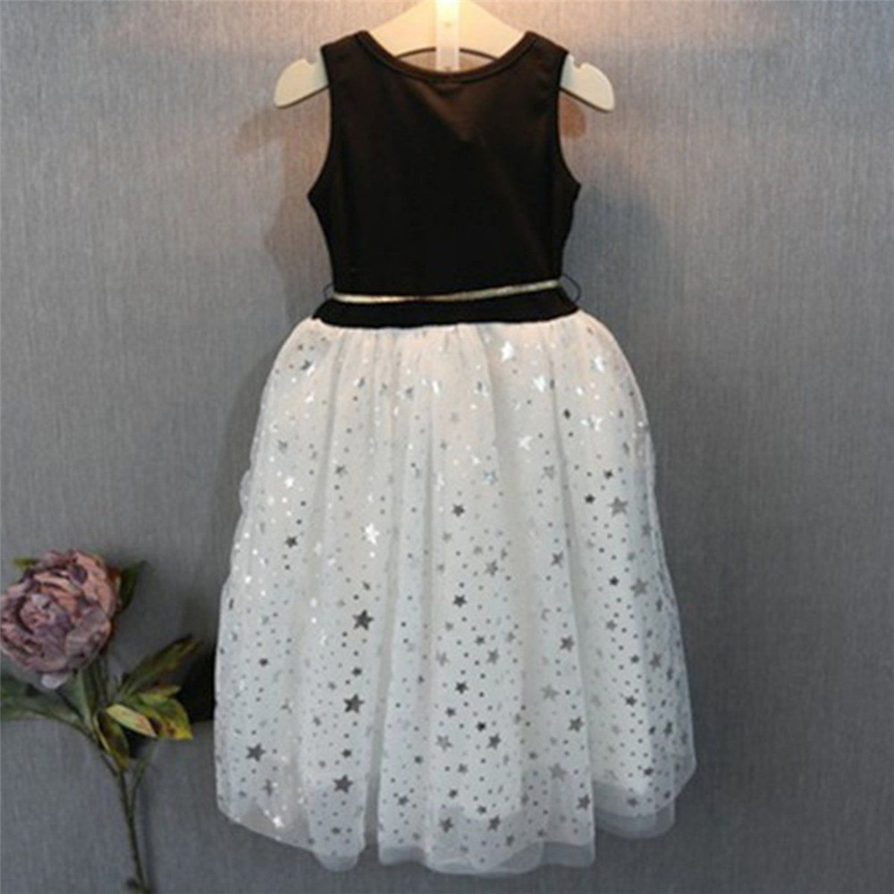 2017 Casual Summer Lace Vest Girl Dress Baby Girl Princess Dress with Belt 0-11Years Children Clothes Kids Party Costume Dress