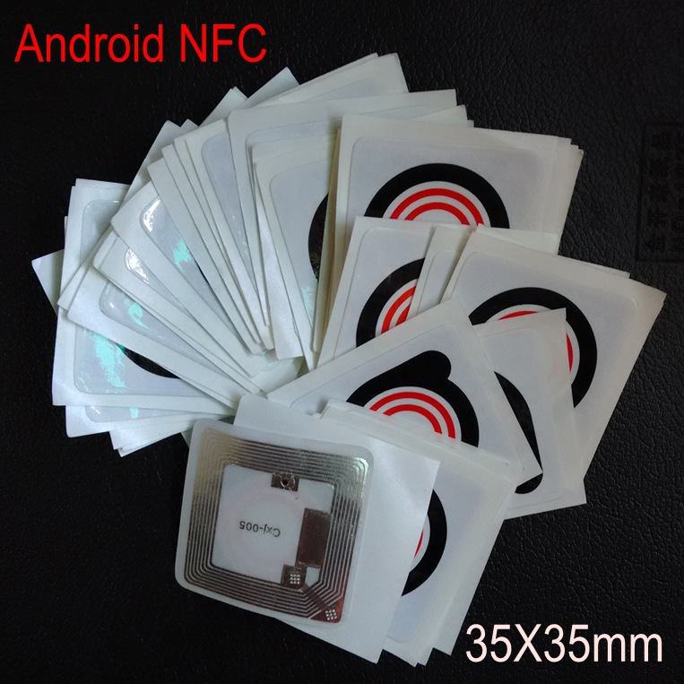 PVC Printed Waterpoof Original NTAG203 Universal NFC Card Sticker For Samsung Galaxy S4 And All NFC Android Mobile Phones