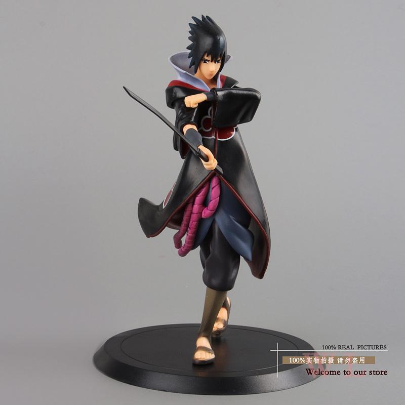 "Free Shipping Naruto Shippuden Uchiha Sasuke PVC Action Figure Collectible Model Toy 7"" 18cm NTFG070(China (Mainland))"