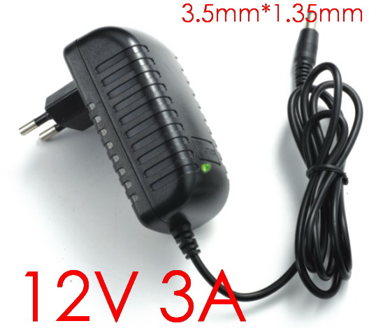 1PCS High quality 12V 3A Tablet Battery Charger AC Adapter for Cube i7 Cube i9 tablet pc Power Supply Adapter 3.5mmx1.35mm(China (Mainland))