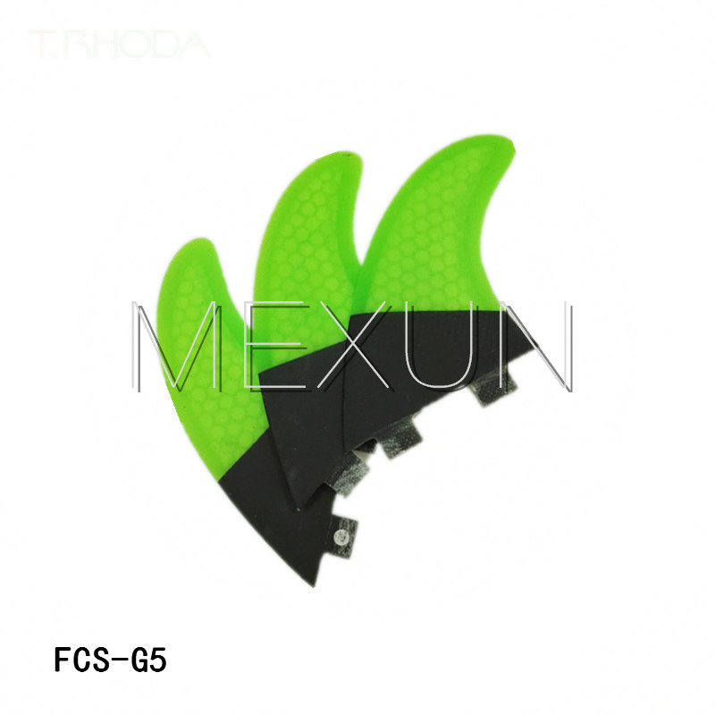 New design surfing fins FCS G5 surfboard fins with fiberglass honey comb material(Tri-set)(China (Mainland))