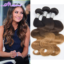 Buy 7A Ombre Brazilian Hair 3 Bundles Brazilian Body Wave 1B/4/27 Ombre Human Hair Brazilian Virgin Hair Ombre Human Hair Extensions for $91.05 in AliExpress store