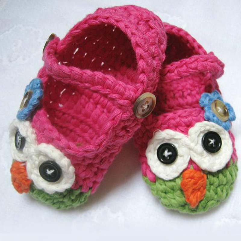 Free Crochet Patterns For Owl Slippers : Free Shipping 1pair Retail Mary Janes Slippers Baby ...