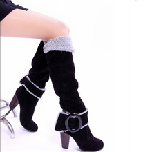 Buy Women's Shoes winter Womens winter boots women's black snow knee long boots Snowshoes snowboots high heel woman femmes for $37.31 in AliExpress store