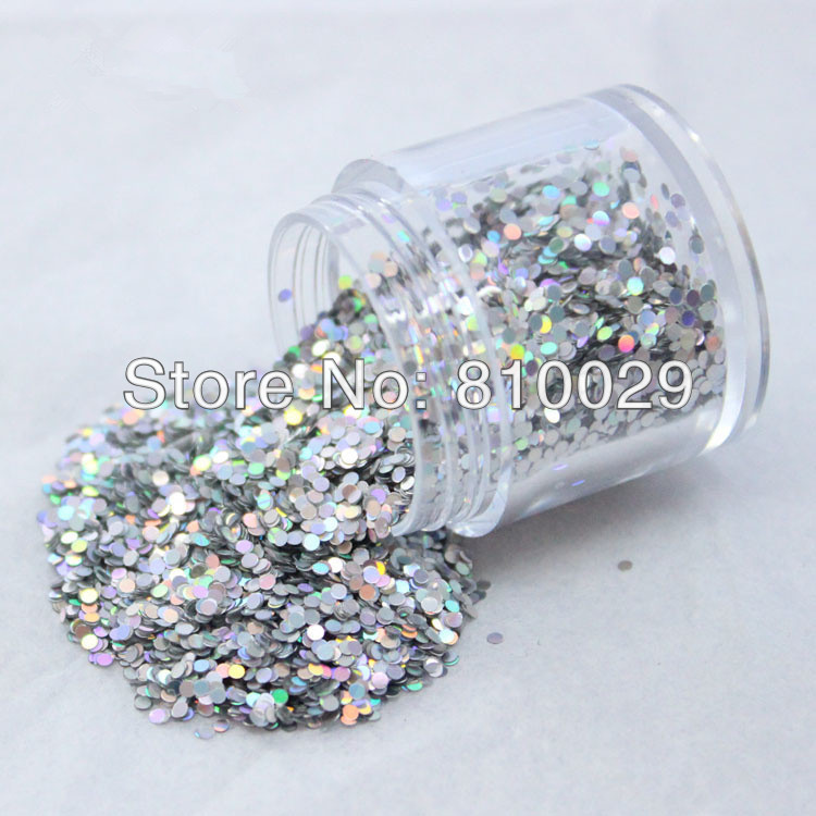 1kg 3mm Round Glitter Powder for Nail Polish or Gel 1mm and 2mm selectable Glitter in Bulk Dot Glitter Silver/Gold Color(China (Mainland))