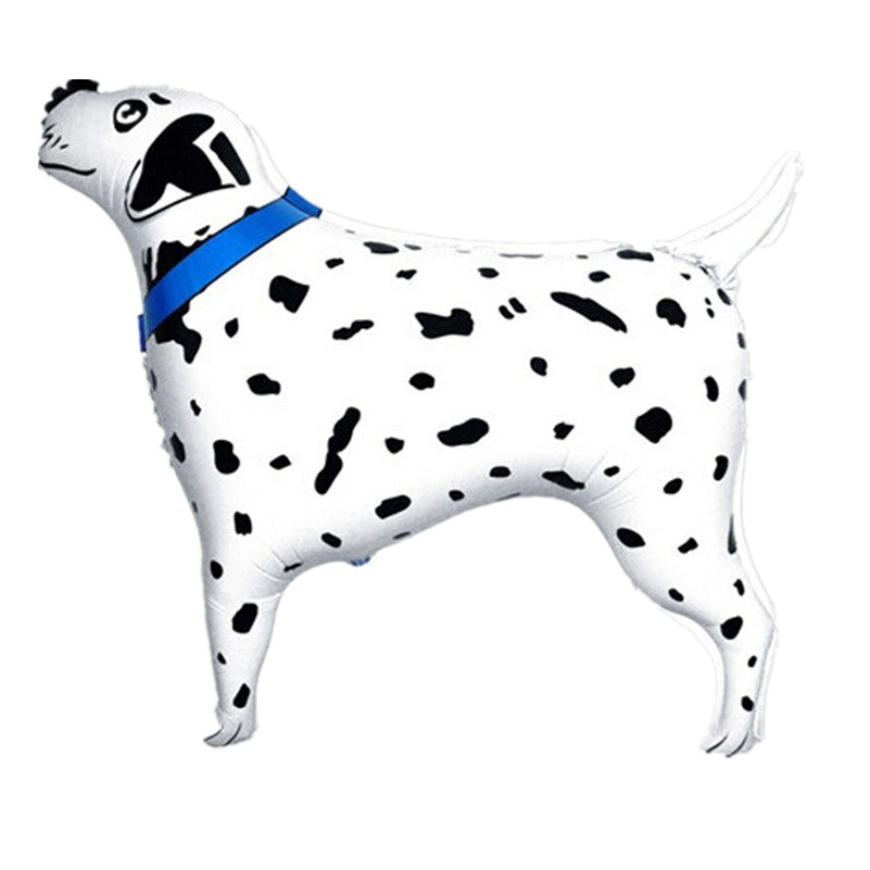 2pc/lot German Dog Walking Foil Balloon Mylar Balloons Pet Animals Style Inflatable baloes Dalmatians Kids Toys Decortion Globos(China (Mainland))
