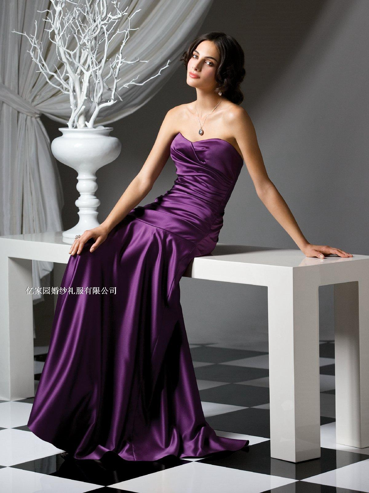 2014new long design celebrity dress fish tail full black evening slim - Online Store 238111 store