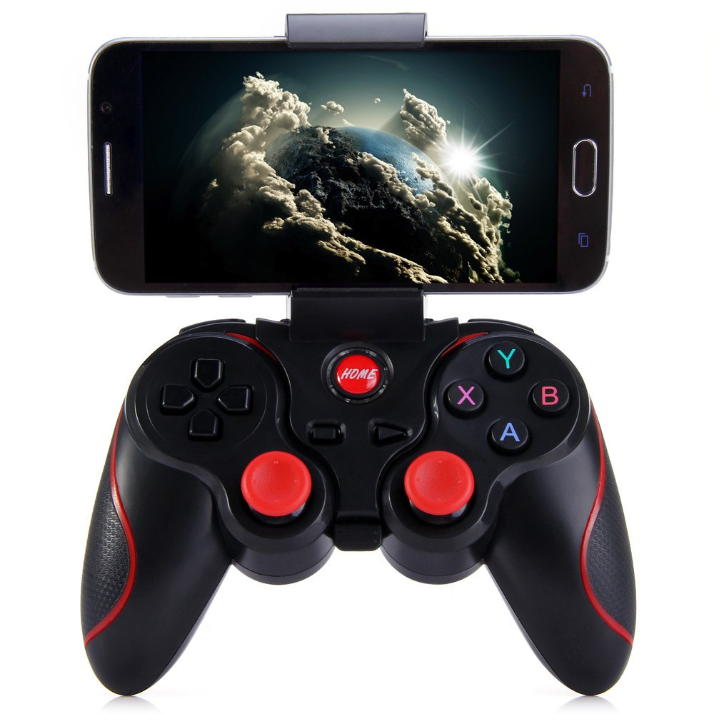 Terios t3+ Wireless Joystick Gamepad Game Controller bluetooth BT3.0 Joystick for Mobile Phone Tablet PC TV Box Holder(China (Mainland))