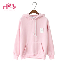 Buy New Fashion Korean Style College Women Street Hoodies Cap Sweatshirt Candy Color Loose Cotton Hoodies Girl Winter Wear for $29.99 in AliExpress store