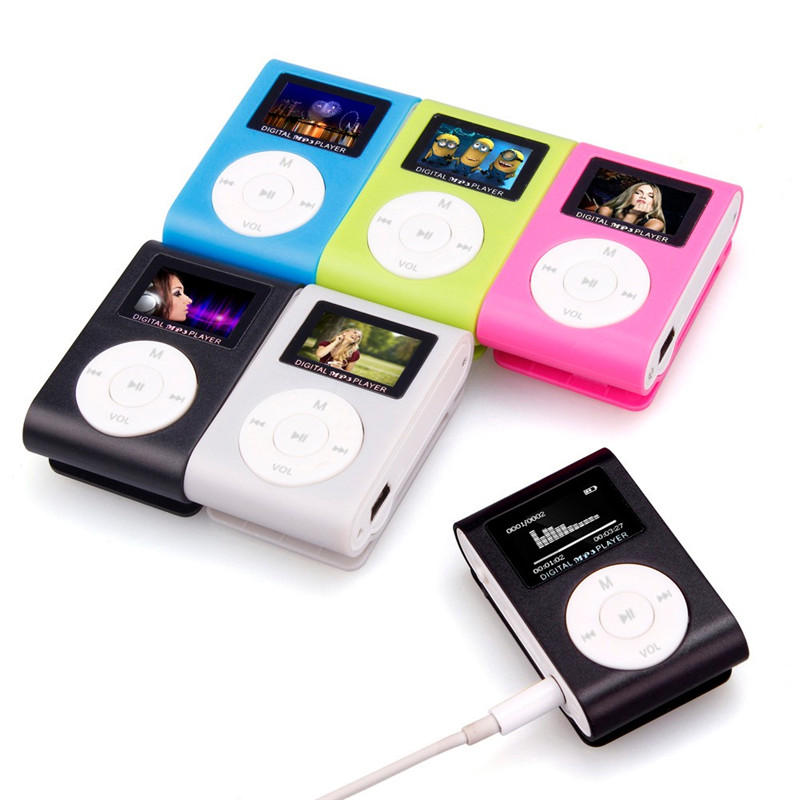 New Mini USB Clip MP3 Player LCD Mp3 Music Player Screen Support 32GB Micro SD TF Card Mp3 player Free Shipping(China (Mainland))