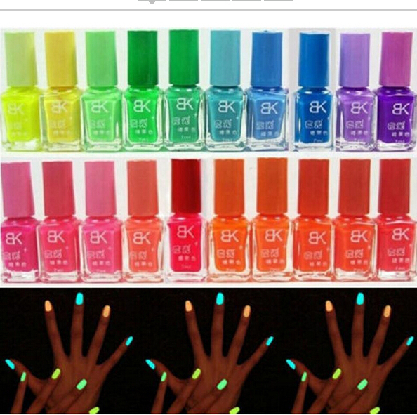 12PCS/LOT Fluorescence Candy Color Quick Dry Nail Polish Night Luminous Nail polish Set Finger Nail Varnish Art for Beauty Tools