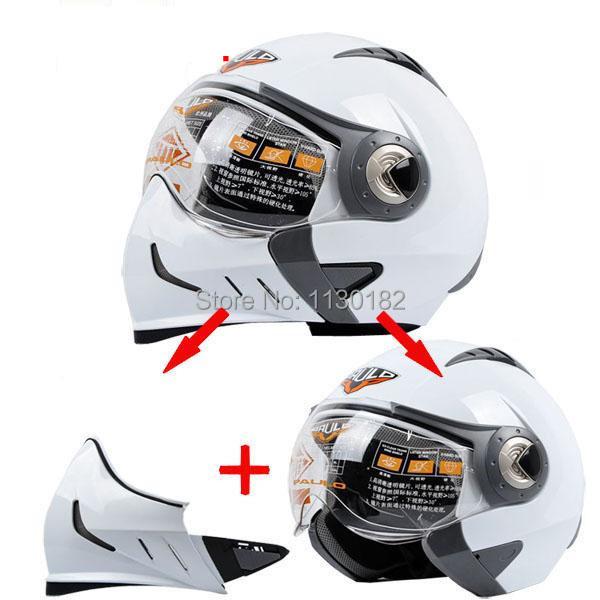 Motorcycle helmet,Double visor helmets,switch full face jet helmet PAULO S-530A