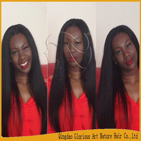 Top Quality Indian Hair Wigs 100% Virgin Unprocessed Full Lace Human Hair Wigs Natural Looking African American Lace Wigs(China (Mainland))