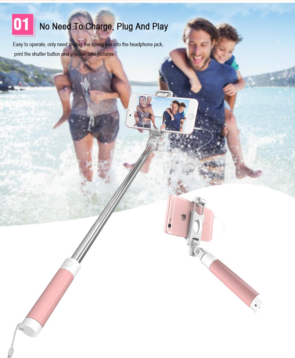 image for RAXFLY Universal Mini Macaron Extendable Selfie Stick 360 Degree Rotat