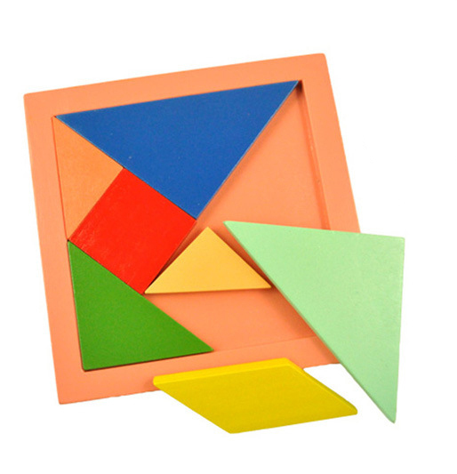 hot selling! Children Mental Development Tangram 11*11cm Wooden Jigsaw Puzzle Educational Toys for Kids Free Shipping(China (Mainland))
