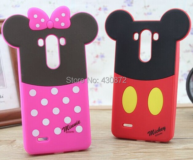 For LG G3 mini D722 D725 Mickey Minnie Mouse Sulley soft rubber cell phone back defender case cover(China (Mainland))