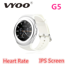 "New Arrivals VYOO G5 Smart Watch MTK6261A 128M+32M 1.20"" IPS HD Screen BT Camera Phone smartwatch gt08 dz09 U8 android watch(China (Mainland))"
