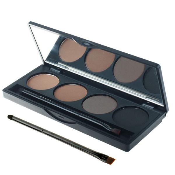 Professional 4 color eyebrow makeup powder eyeshadow palette double end brush - Shenzhen Boyer Technology Co., Ltd. store