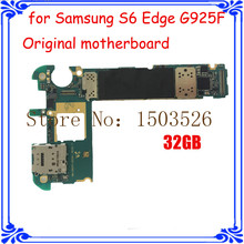 hot sale original mainboard for Samsung S6 Edge G925F 100% good working Europea version 32GB motherboard 3GB RAM Android OS 5.0