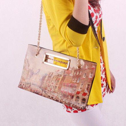 New 2015 Fashion Print Women Handbag Street Casual Shoulder Bag Women