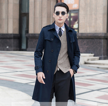 2015 Male trench outerwear slim men's clothing autumn commercial coat very large  medium-long plus size S-5XL 6XL 7XL 8XL 9XL(China (Mainland))