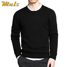 Buy Sweaters men pullover brand polo men sweater hombre clothing cotton spring dress thin O-neck knitwear solid Black Navy Gray for $19.99 in AliExpress store
