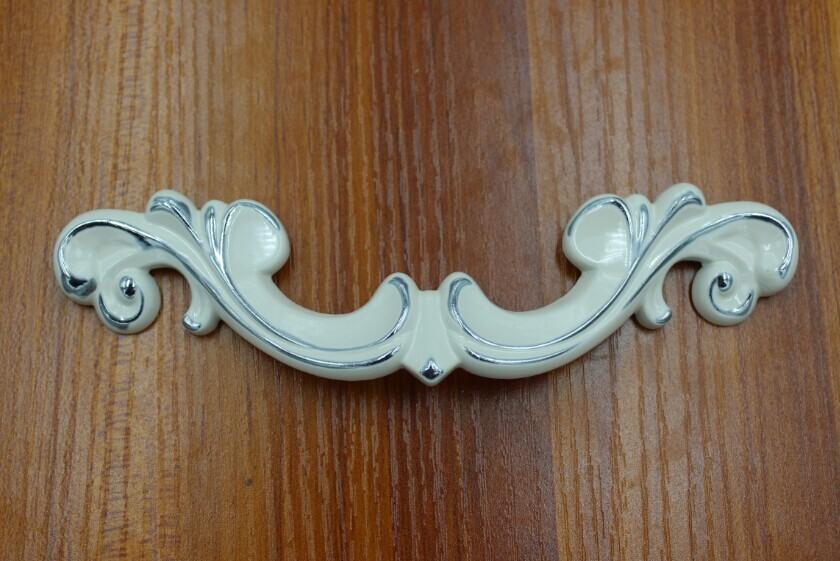 5″ Antique Silver Kitchen Cabinet Pulls,White silver Drawer Handles black antique brass dresser  Furniture Handles Pulls knob 5″