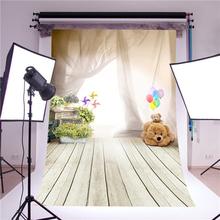 Buy photography backdrop photo props fantasy ballon bear children wooden floor vinyl 5x7ft 3x5ft photo studio background baby for $9.10 in AliExpress store