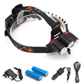2017 New 3 LED Headlight 10000 Lumens CREE XM L T6 Head Lamp High Power Headlamp
