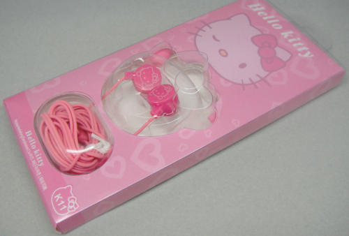 NEW 3.5MM In-ear Katie cat headphone cute ear headphones for MP3 MP4 computer headset(China (Mainland))