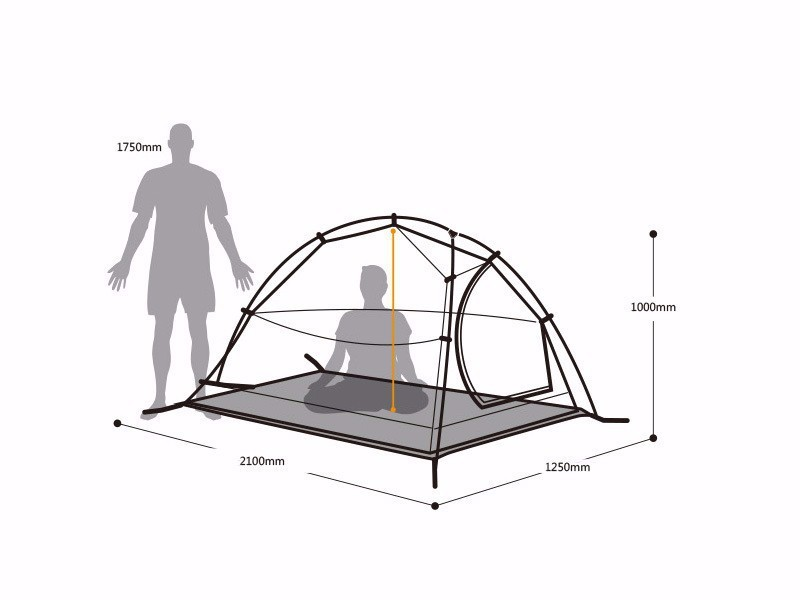 2015120DHL free shipping 2 Person NatureHike Tent 20D Silicone Fabric Double-layer Camping Tent Light weight tent 15_114