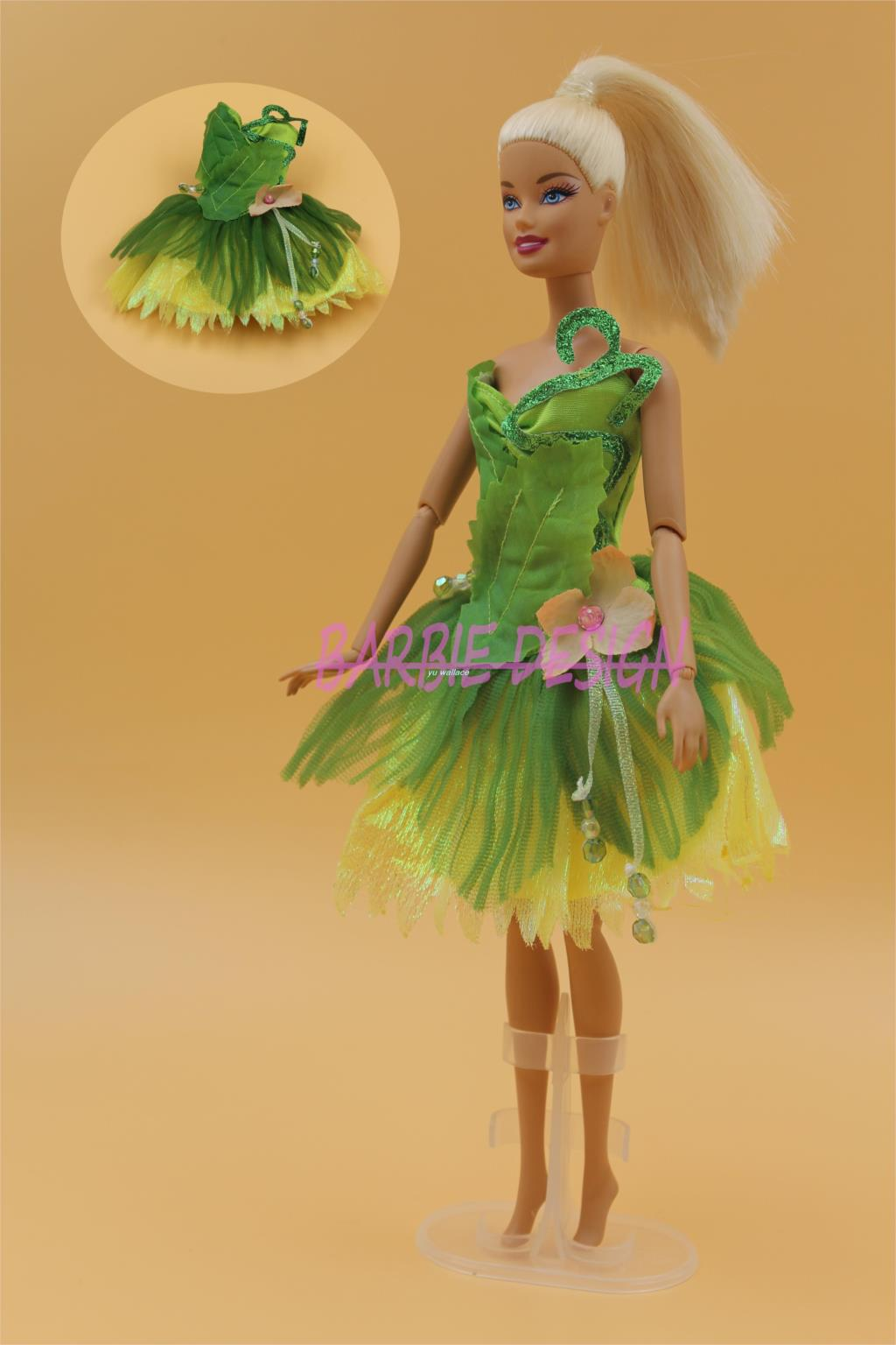 1 Pcs Tree fairies Stunning Trend Handmade skirt garments Get together gown Outfits For Barbie doll The perfect reward