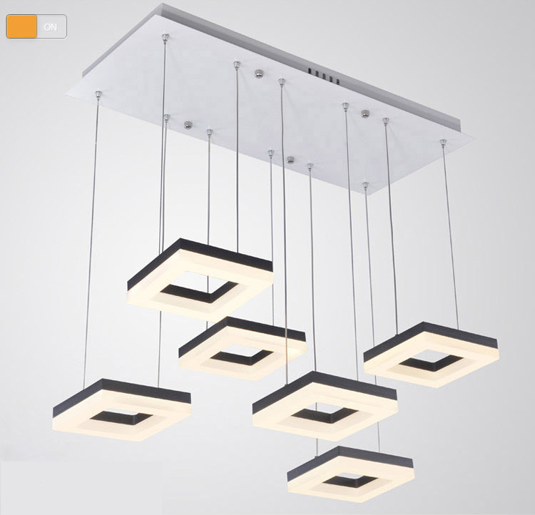 Buy 54w dining room square pendant light italian design led pendant lights Suspension salle a manger