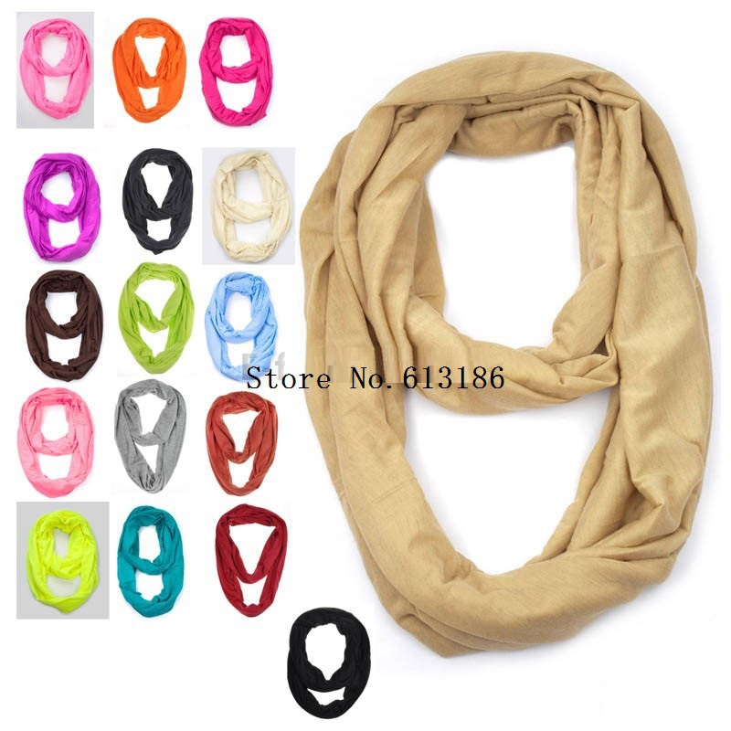 Jersey Circle Loop Shawl Infinity Plain Scarf / Snood Women/Ladies 2016 New Fashion - Yiwu Accessories store