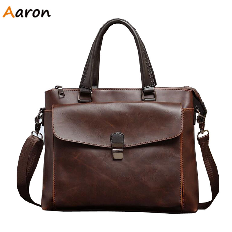 Aaron - Italian famous design Mens Crazy Horse Genuine Leather Briefcases,British Mens Business Shoulder Bag Maletin Hombre<br><br>Aliexpress
