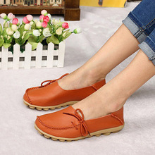 2016 New Summer Shoes Women Genuine Leather Flats Fashion Casual Soft Mother Loafers Moccasins Female Driving Shoe Wholesale(China (Mainland))
