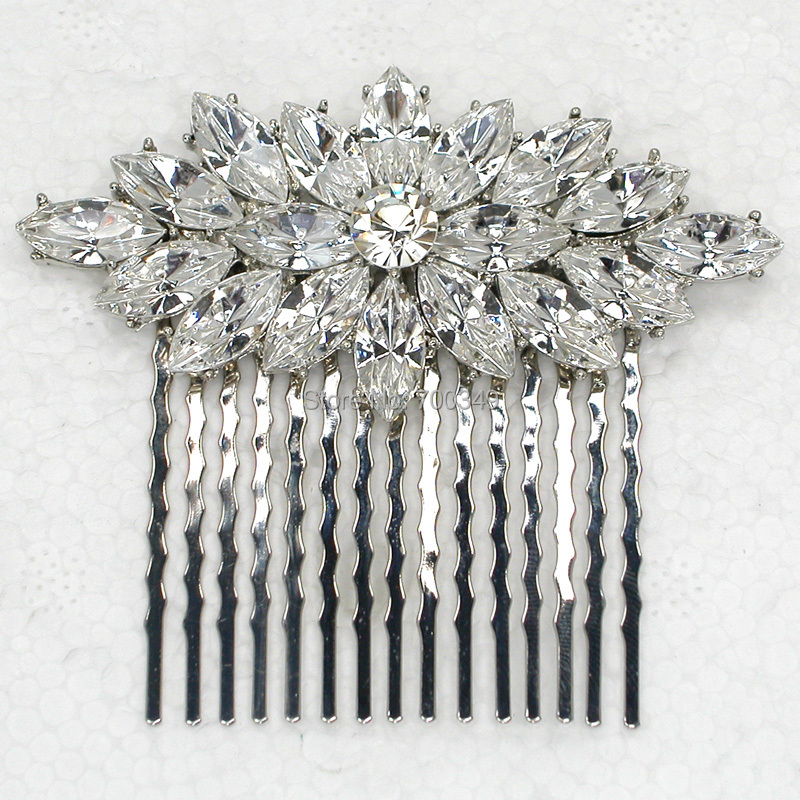 6pcs/Lot Marquise Clear Crystal Rhinestone Hair comb,Bridal Bridesmaid Wedding party prom hair Jewelry Accessories L067<br><br>Aliexpress