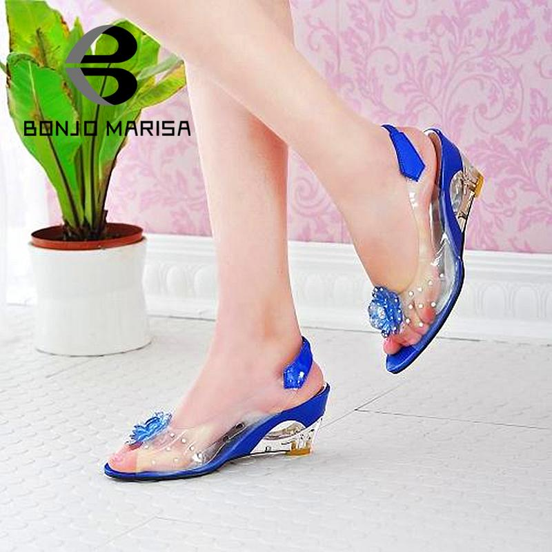 Big Size 34-43 Factory Price Rome stylish high quality fashion wedge heel sandals dress casual shoes lady's sandals 2015 XB140(China (Mainland))