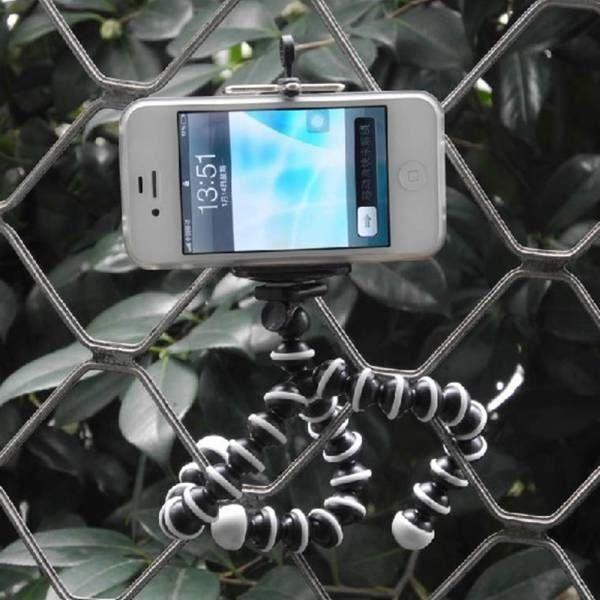 Free shipping Flexible Mini Tripod Cell Phone Smartphone Pocket Camera Clips Holder octopus tripod + cellphone holder(China (Mainland))