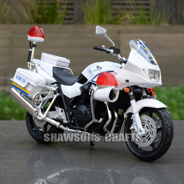 DIECAST MODEL TOY 1/12 HONDA CB1300P POLICE MOTORCYCLE SPORT BIKE REPLICA COLLECTION(China (Mainland))