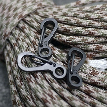 Mini SF Spring Claps Climbing Carabiners EDC Keychain Camping Bottle Hooks Backpack Climbing Claps Tactical Survival