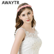 Buy Stylish Flower Garland Floral Bridal Headband Hairband Wedding Prom Lace Flower headband Hair Accessories Gift New Arrival for $1.16 in AliExpress store