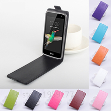 Buy Luxury PU Leather Case LG K4 LTE K120E K130E K121 Case Flip Phone Back Cover Original High Protective Case Skin for $3.78 in AliExpress store