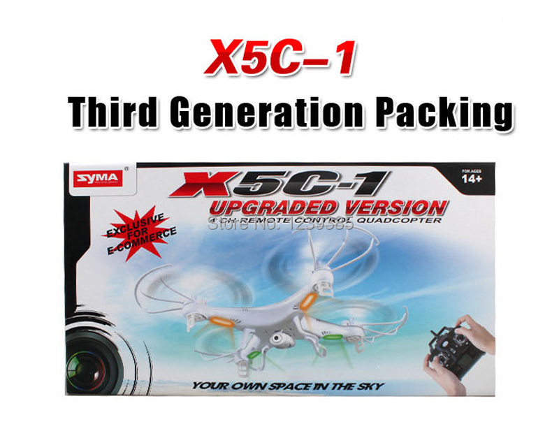 RC Helicopter syma x5c-1 4Axis GYRO Drone Quadcopter with 2MP HD Camera(China (Mainland))