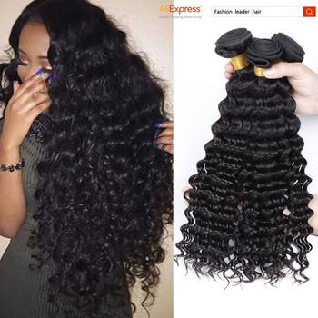 Peruvian Deep Wave Peruvian Curly Hair 3 Bundle Deals Peruvian Virgin Hair Virgin Peruvian Hair 7A Unprocessed Virgin Human Hair