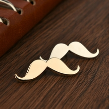 2016 Fashion Beard Shape Vintage Brooch For Men Alloy Plated Collar Brooch for Wedding Business Suit Lapel Pins Mens Accessories