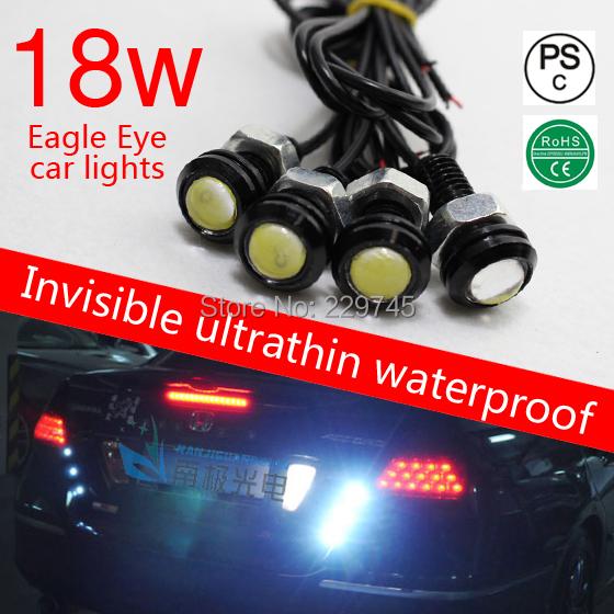 18mm Eagle Eye DIY COB led car lights DRL daytime running light reverse parking lamp for