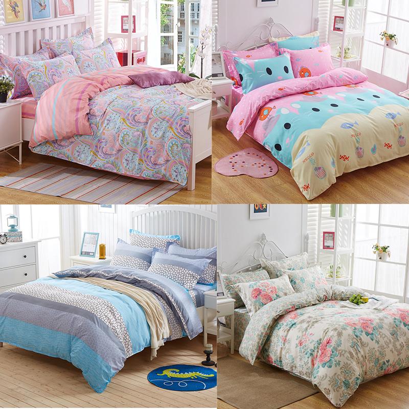 Kids Bedroom 100 Cotton Hello Kitty Queen Size Bedding Comforter Set  4Pcs Twin/Full/Queen/King Size Bed Quilt /Duvet/Doona Cover Set &Sheet ...