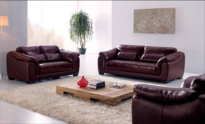 hot sale high quality genuine leather 123 sofa furniture living room